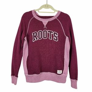 Roots Red Long Sleeve Crewneck Sweater Small